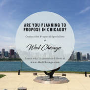 Marriage Proposal Planning in Chicago Instagram Post